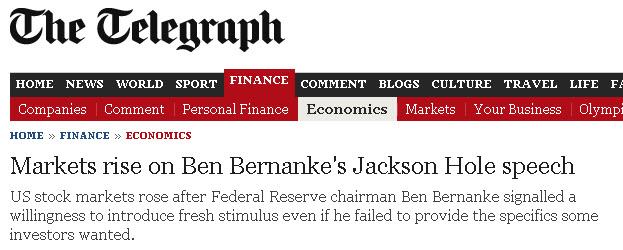 British Telegraph headline